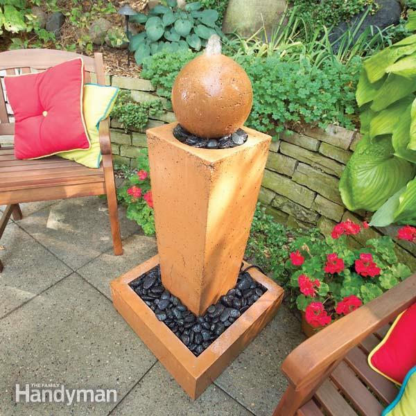 40+ Creative DIY Water Features For Your Garden --> How to Cast Sculptured Concrete Fountains