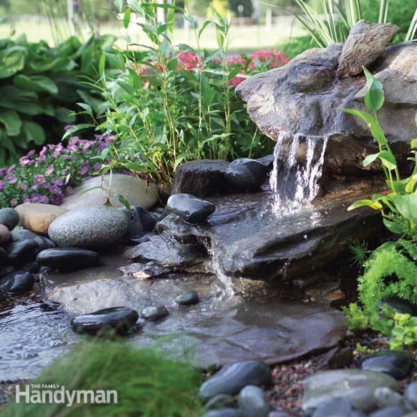 40 creative diy water features for your garden for How to build an outdoor water feature