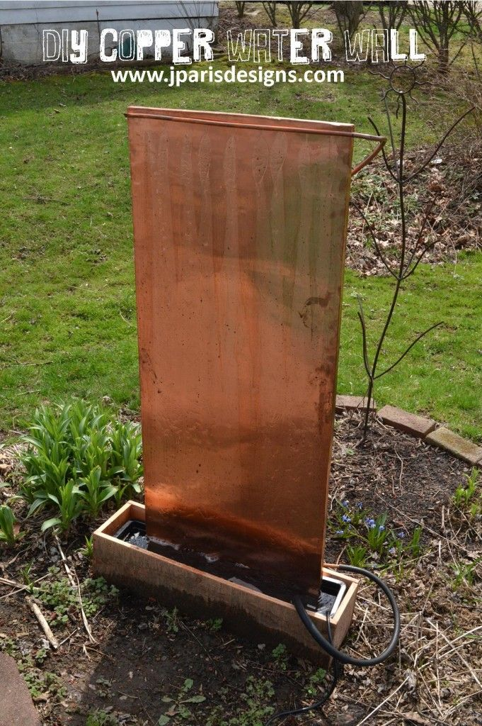 40+ Creative DIY Water Features For Your Garden   U003e DIY Outdoor Copper Water