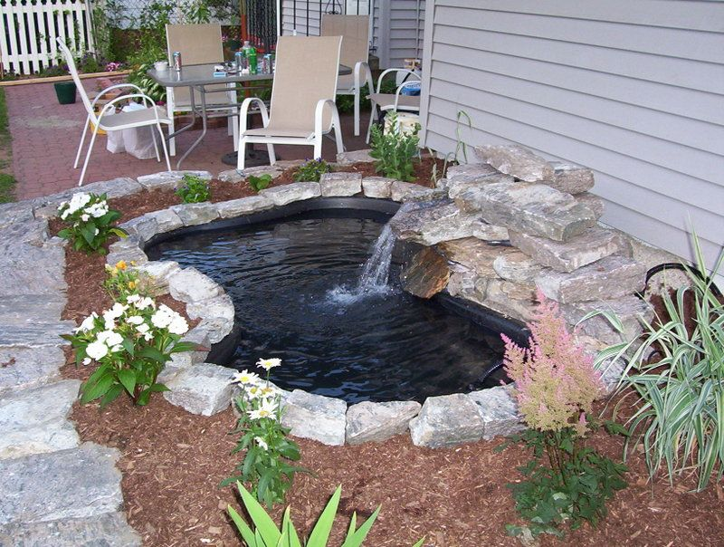 40+ Creative DIY Water Features For Your Garden --> DIY Water Garden and Koi Pond