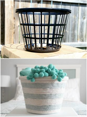 Creative Ideas - DIY Rope Basket From A Dollar Store Laundry Basket