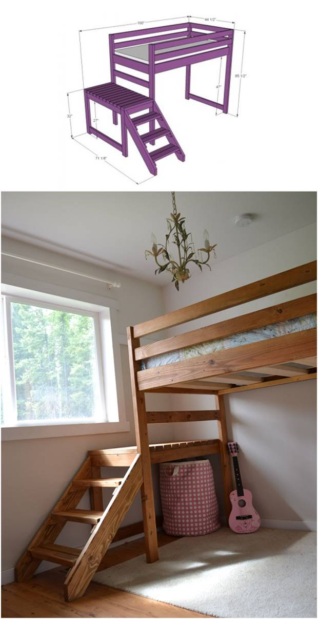 bed plans bunk beds unlimited our college loft bed plans