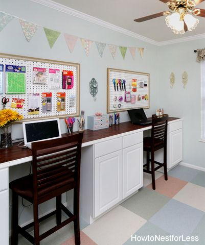 25+ Creative DIY Projects to Make a Craft Table --> Craft Room Desk Tutorial