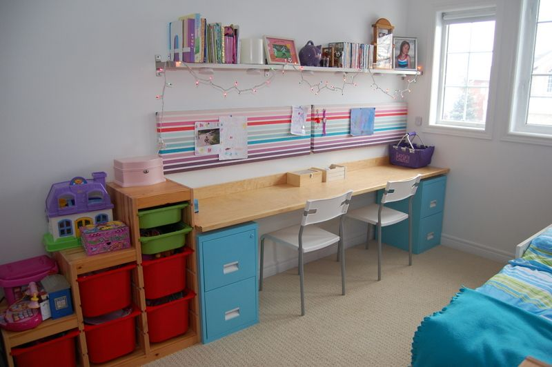 25+ Creative DIY Projects to Make a Craft Table --> DIY Filing Cabinet Desk