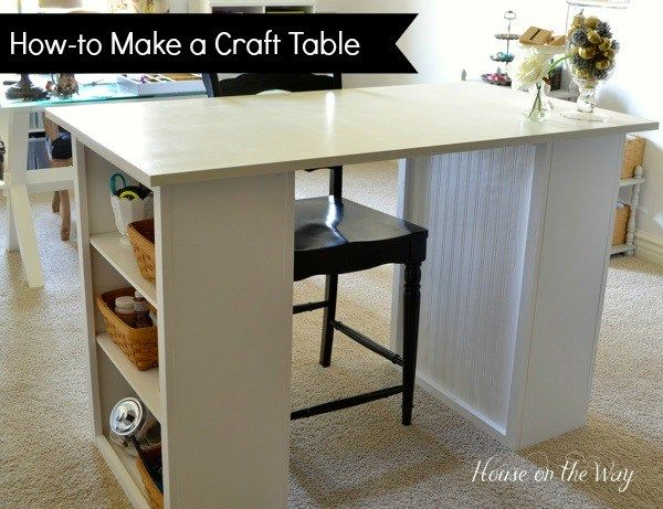 25+ Creative DIY Projects to Make a Craft Table --> How to Make a Craft Table