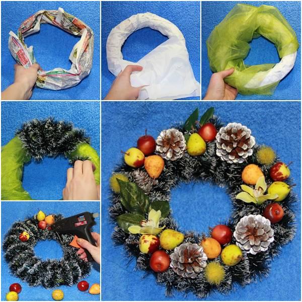 Creative Ideas – DIY Easy And Pretty Christmas Wreath