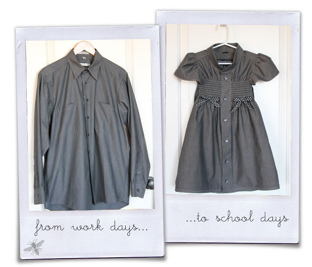 15+ Creative Ways To Repurpose Men's Shirt Into Little Girl's Dress -- His Work Shirt To Her School Dress