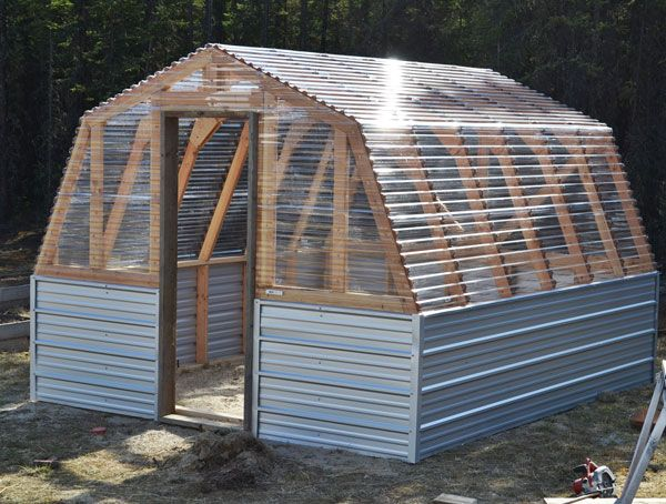 DIY Barn Greenhouse Plan