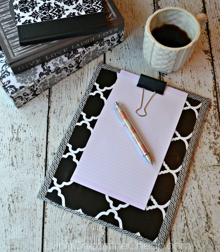 DIY Upcycled Clipboard