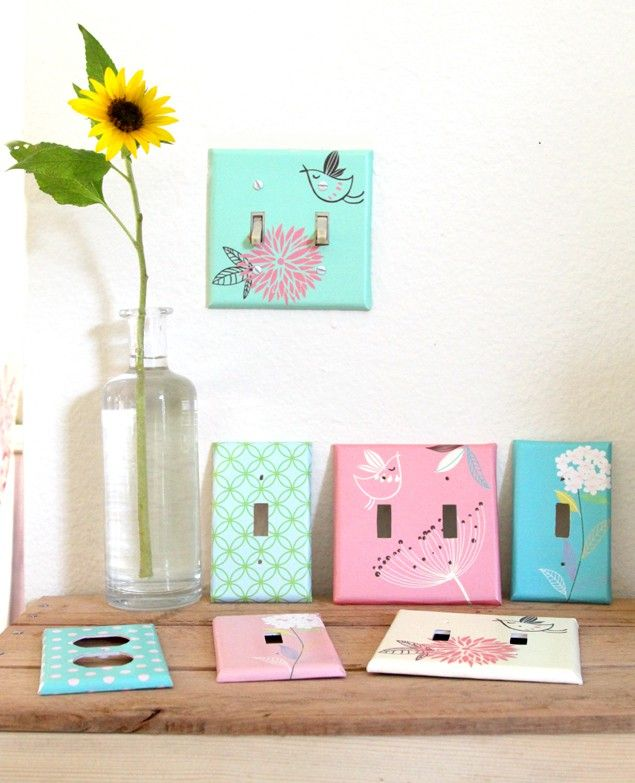 DIY Designer Wall Plates and Light Switch Covers