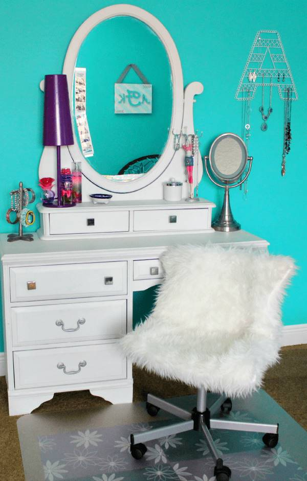 DIY Pottery Barn Inspired Furry Office Chair