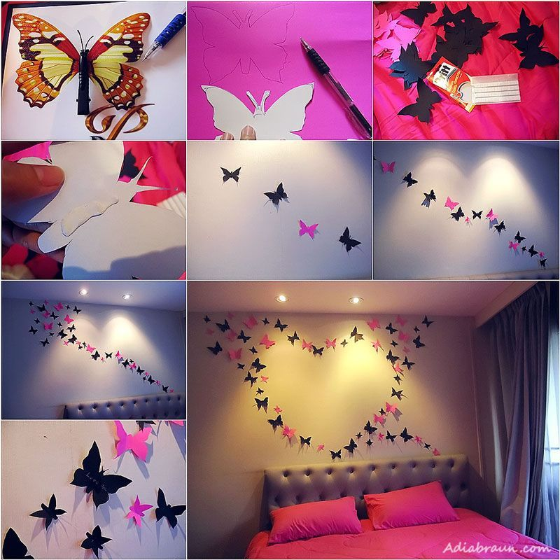 DIY Butterfly Wall for Valentines Day