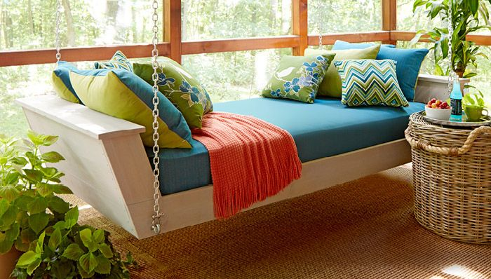 How to Build a DIY Hanging Daybed