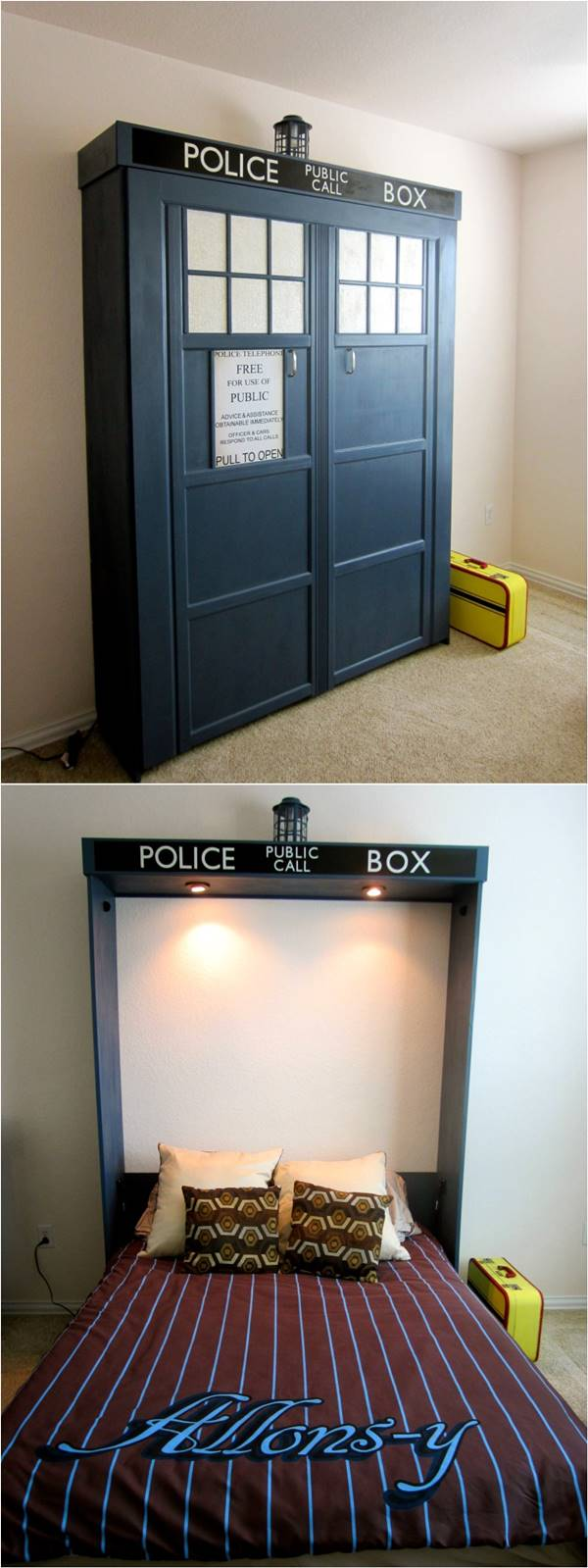 DIY Dr. Who Themed Murphy Bed