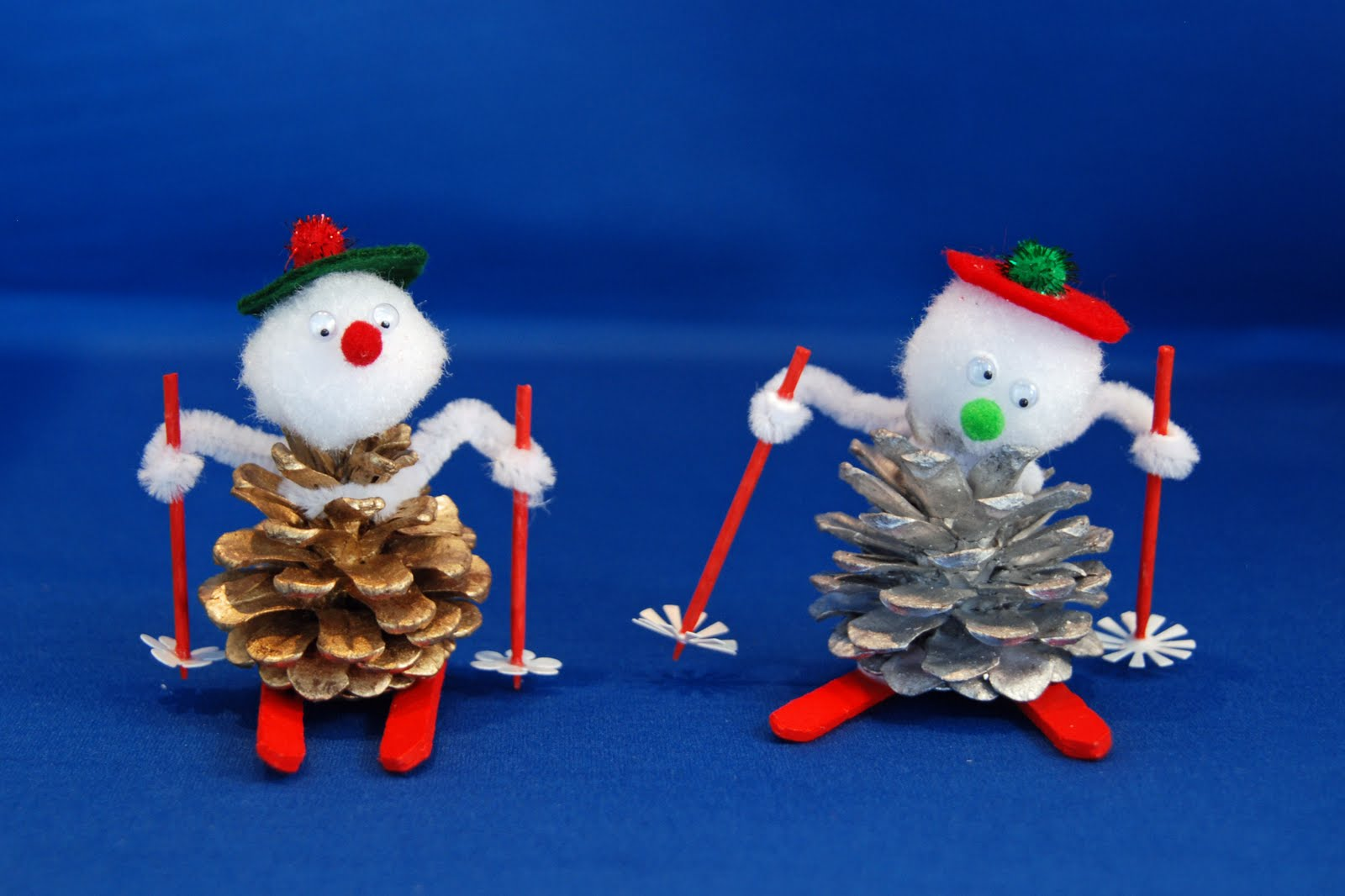 How to Make a Pinecone Skier