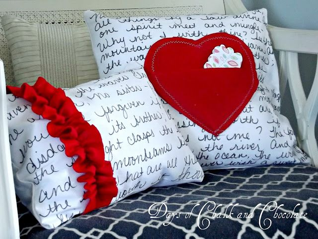 DIY Love Note Pillows
