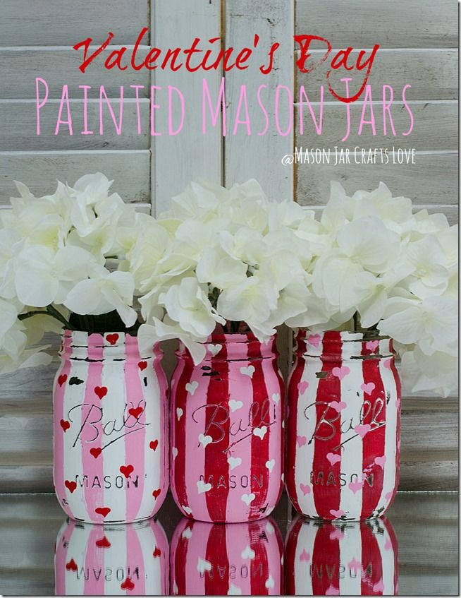 How to Make Painted and Distressed Valentine's Heart Jars