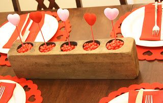 DIY Candy Hearts Centerpiece