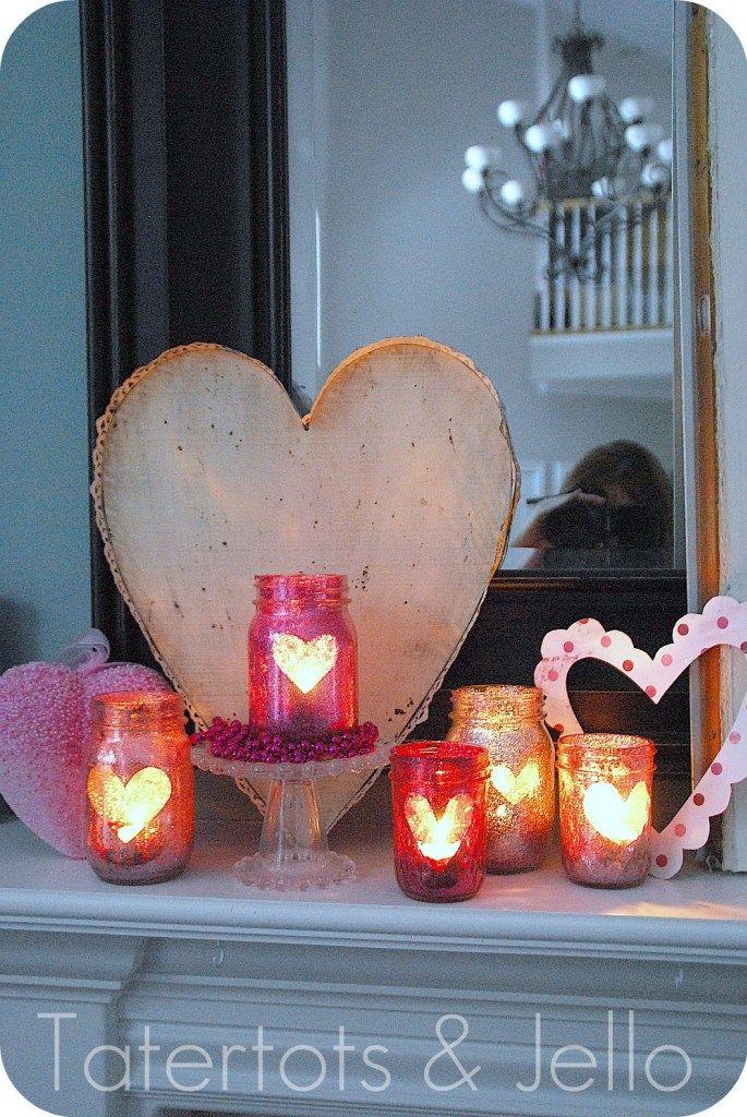 DIY Valentine Glitter Mason Jar