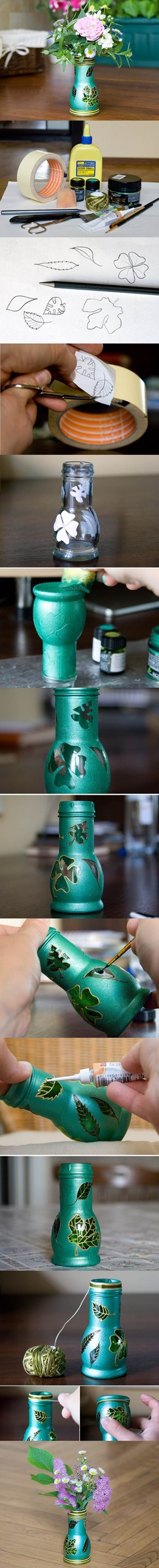 Beautiful Vase Made from Glass Bottle 2