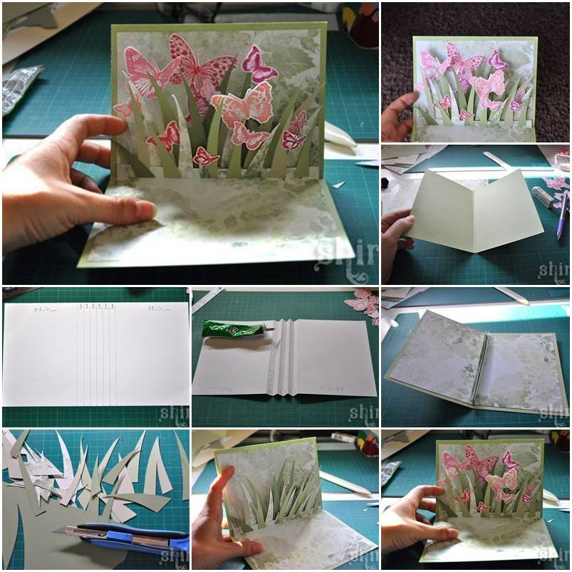 Diy 3d butterfly greeting card m4hsunfo