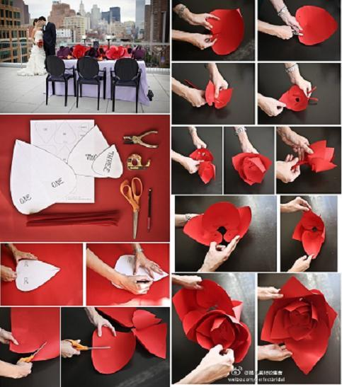 20 Creative Must See Wedding Ideas For Kids: Beautiful Paper Rose Decorations