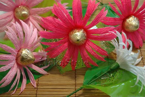 DIY Chocolate Gerbera Flower Bouquet 13