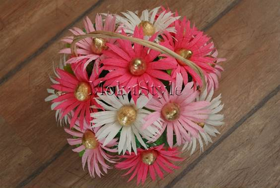 DIY Chocolate Gerbera Flower Bouquet 14
