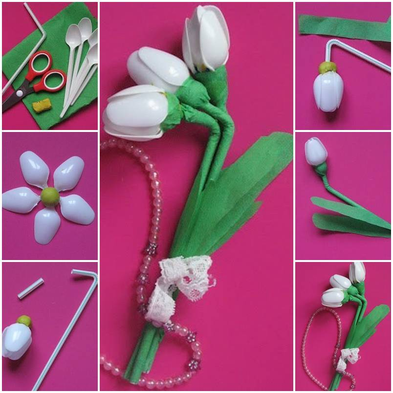 Diy Plastic Spoon Waterlily