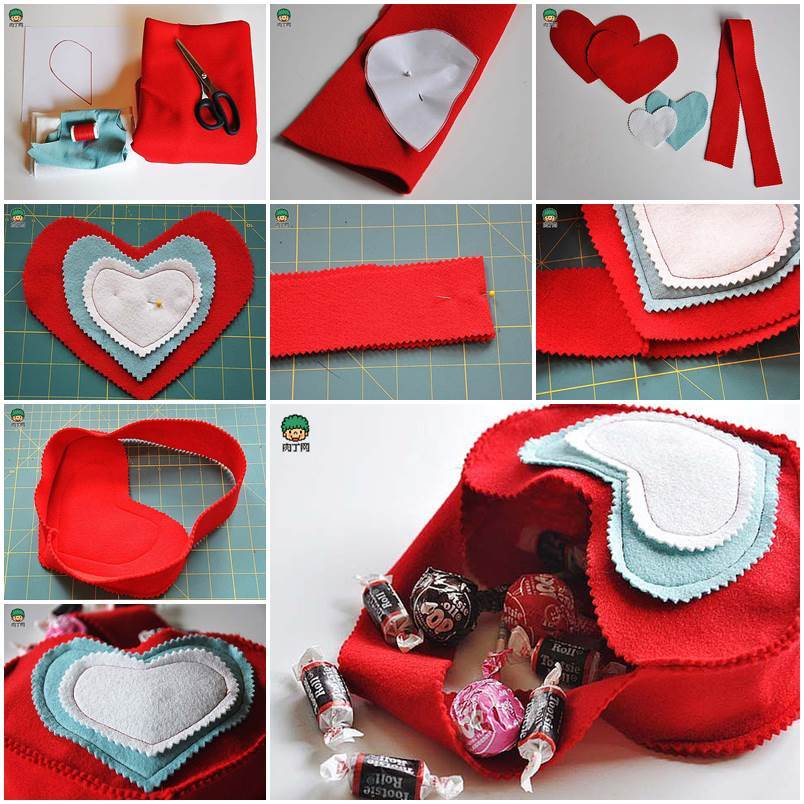 DIY Valentine's Day Felted Gift Bag