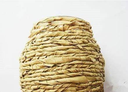 How to DIY Kraft Paper Decorated Flower Vase 5
