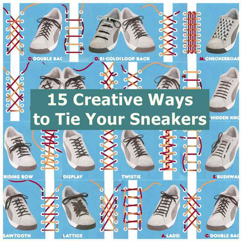 15 creative ways to tie your sneakers ccuart Images