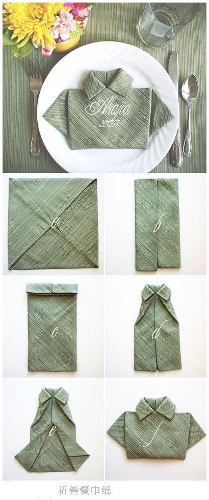 Creative Polo Shirt Napkin 2