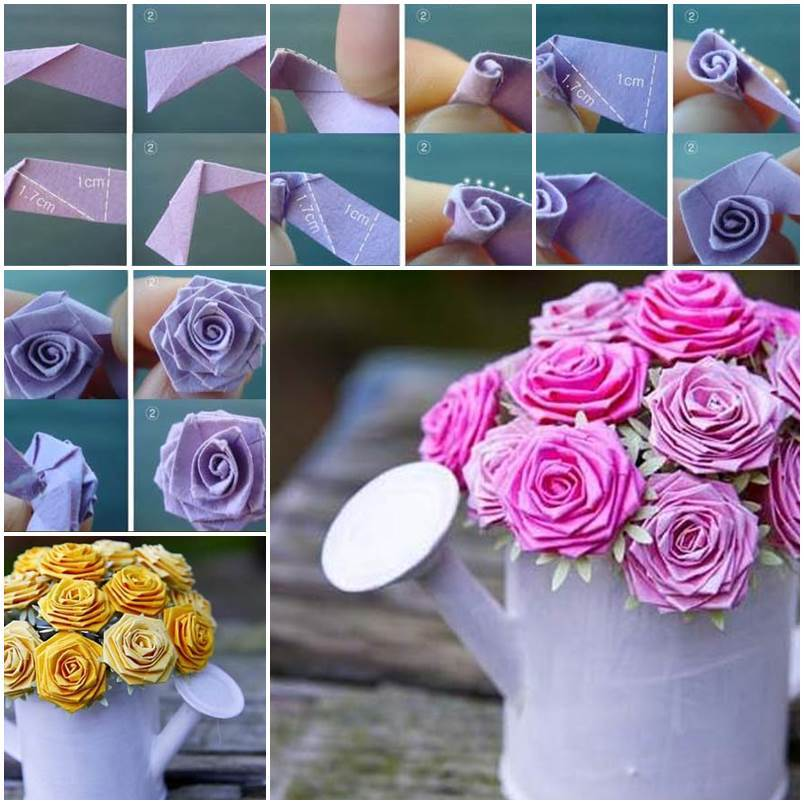 Cute Easy Origami Rose