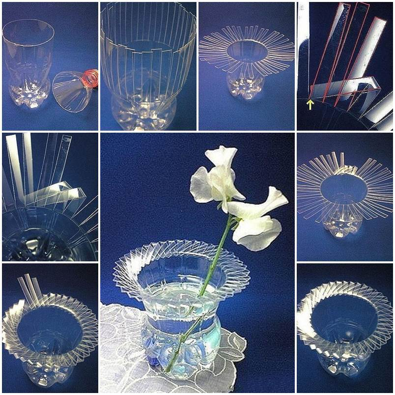 Diy beautiful vase with plastic bottle for What to do with empty plastic bottles