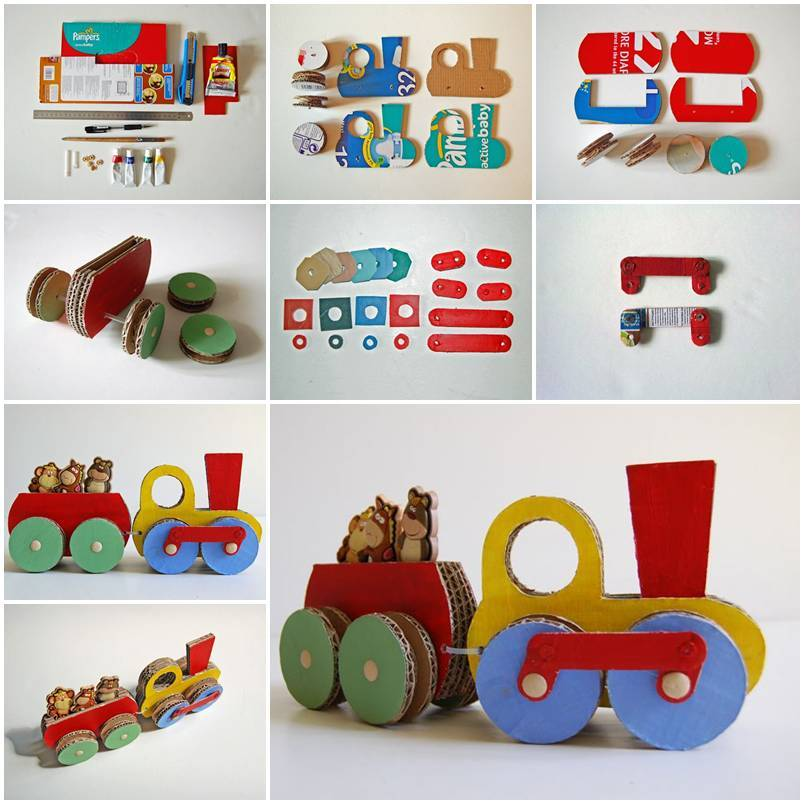DIY Cardboard Choo-Choo Train