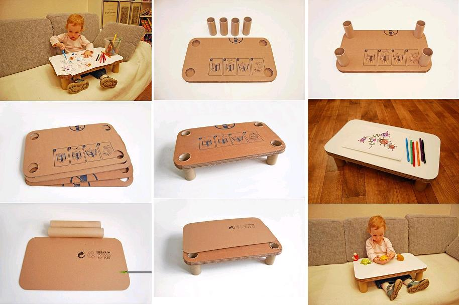 DIY Cardboard Play Table for Kids