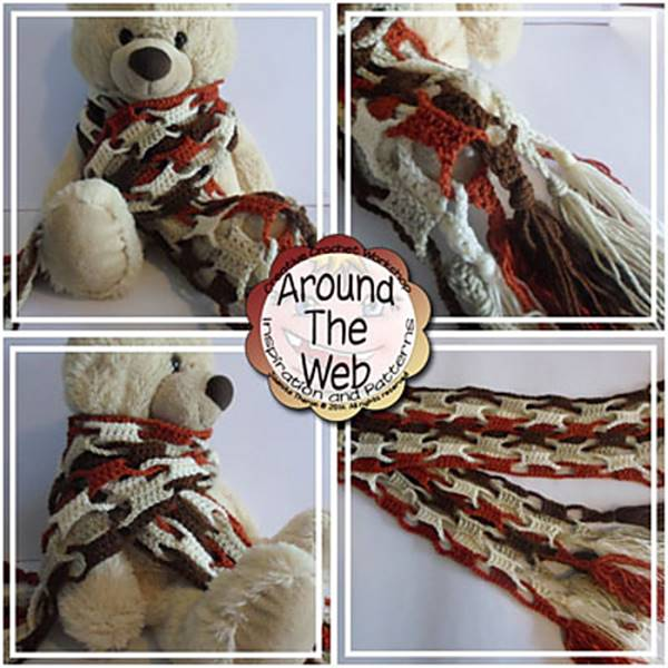 DIY Colorful Crochet Wool Scarf 4