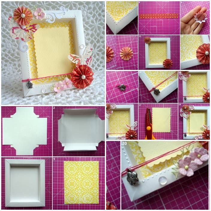 Diy Cute Cardboard Picture Frame