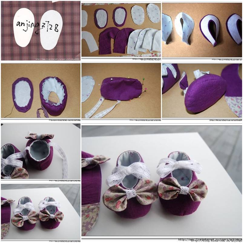 DIY Cute Baby Shoes With Bows