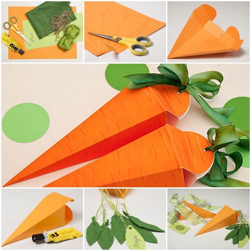 DIY Cute Carrot Shaped Gift Box