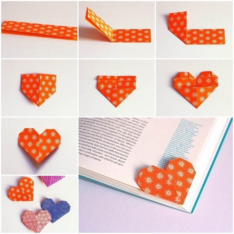 Diy Cute Origami Heart Shaped Bookmark