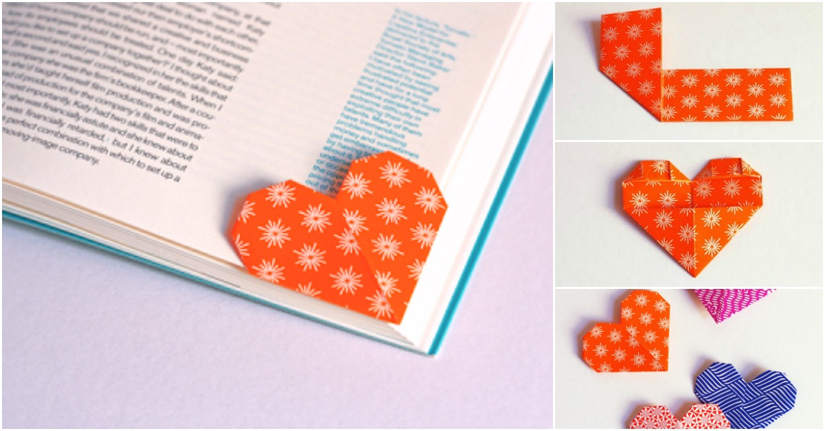 DIY Heart Bookmarks Tutorial | How To Make Bookmarks | How To ... | 628x1201