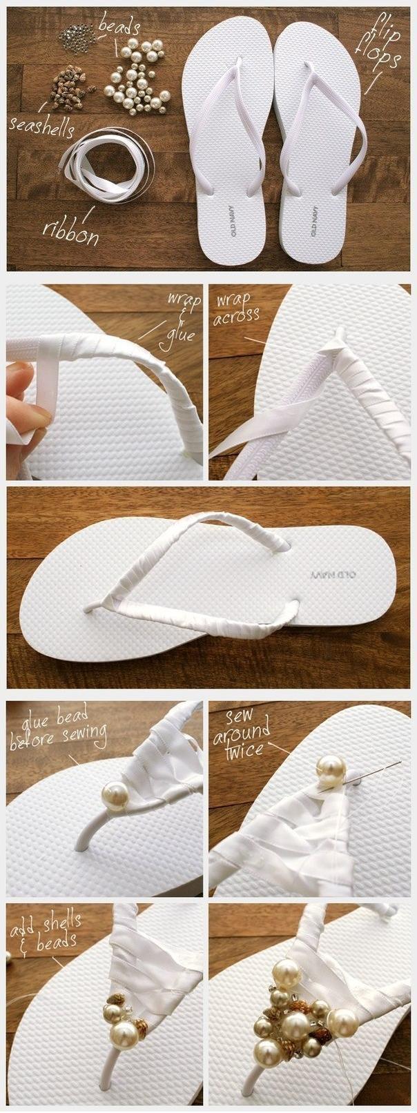 DIY Decorated Summer Flip Flops