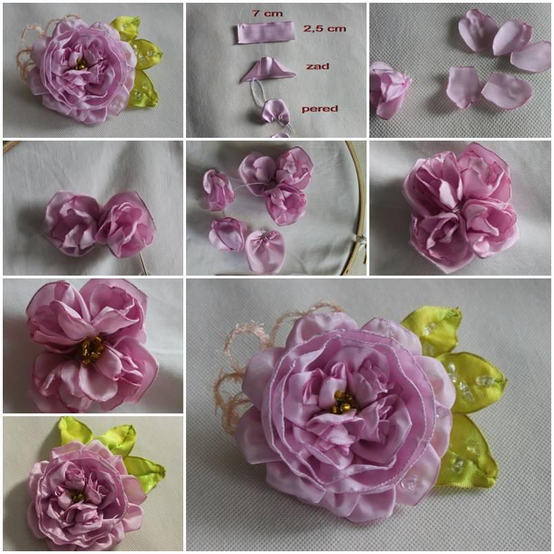 DIY Fabric Rose Brooch