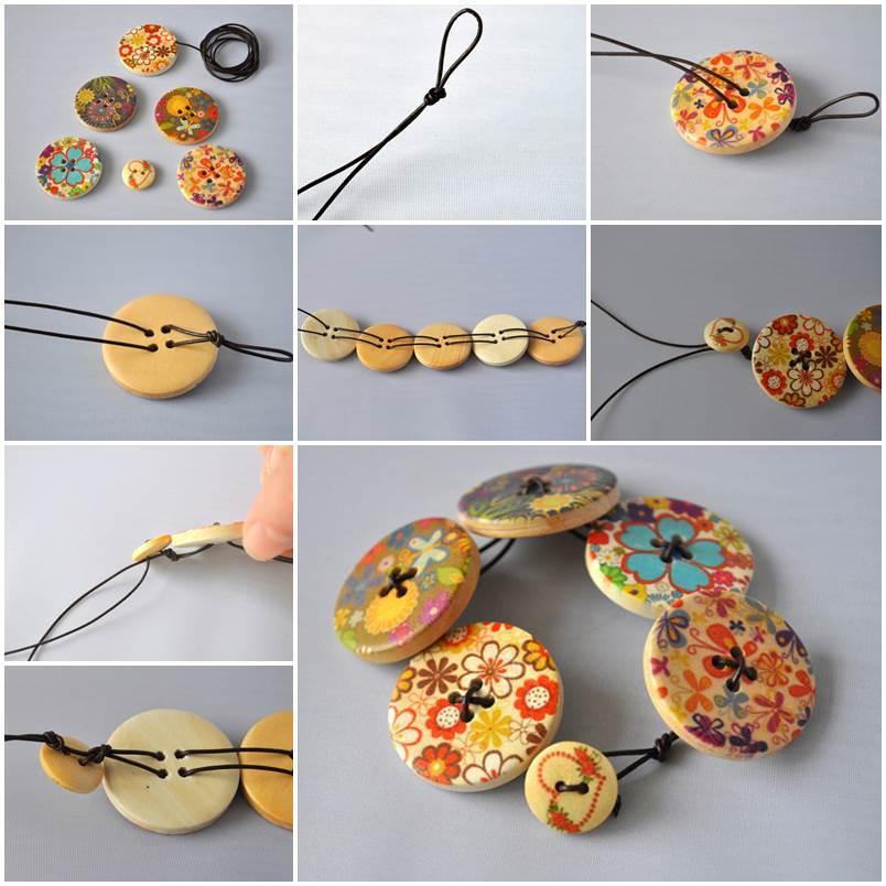 Diy Fashionable Button Bracelet