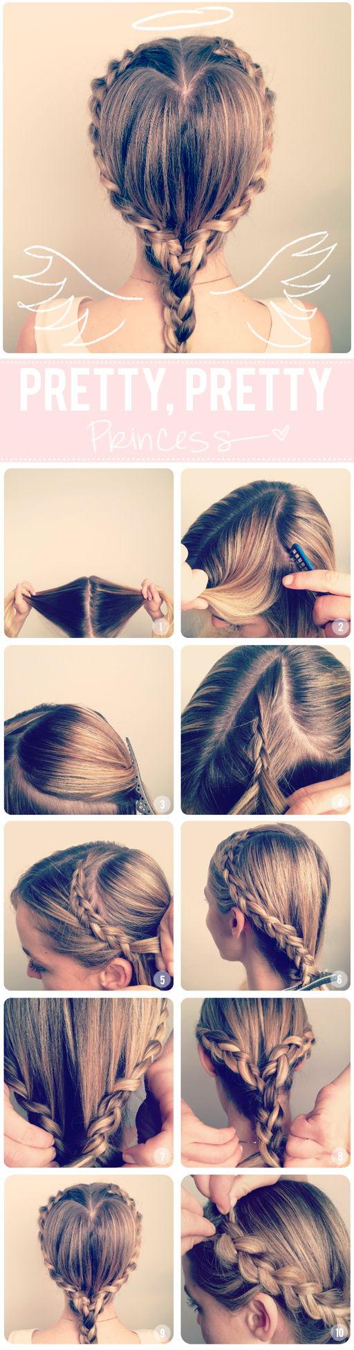 DIY Heart Braid Hairstyle