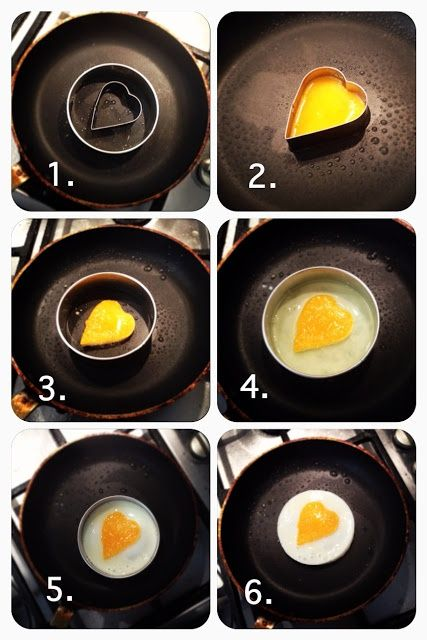 DIY Heart Shaped Eggs