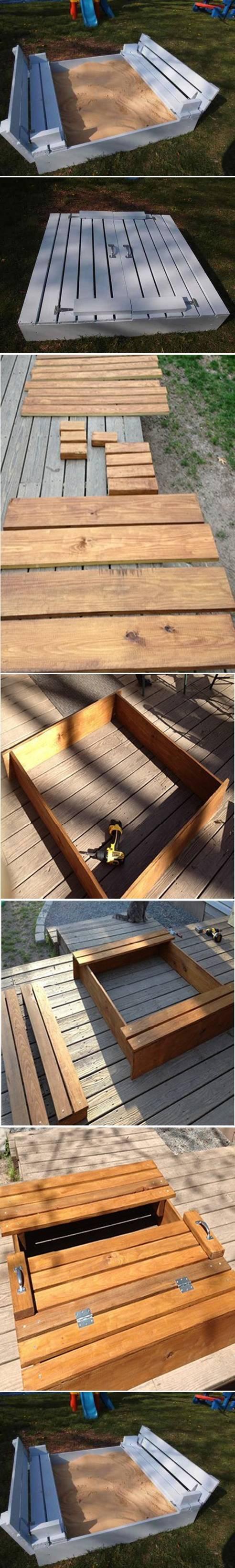 DIY Sandbox for Kids 2