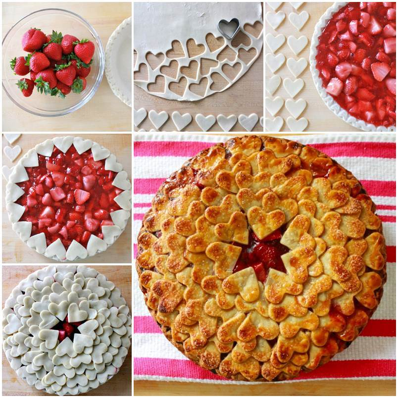 DIY Strawberry Heart Pie